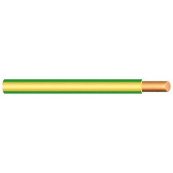 MCU vezeték 1x1,5mm2 zöld-sárga PVC szigetelésű tömör réz erű M-Cu H07V-U (MCU)