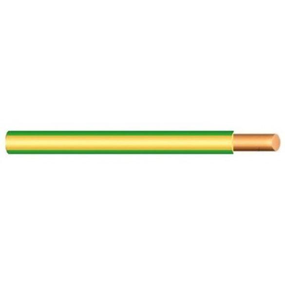 MCU vezeték 1x2,5mm2 zöld-sárga PVC szigetelésű tömör réz erű M-Cu H07V-U (MCU)