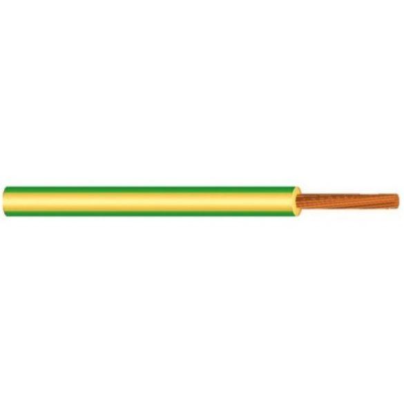 MKH vezeték 1x1,5mm2 zöld-sárga PVC szigetelésű sodrott réz erű M-kh H07V-K (MKH)