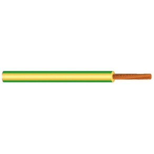MKH vezeték 1x4mm2 zöld-sárga PVC szigetelésű sodrott réz erű H07V-K (MKH)