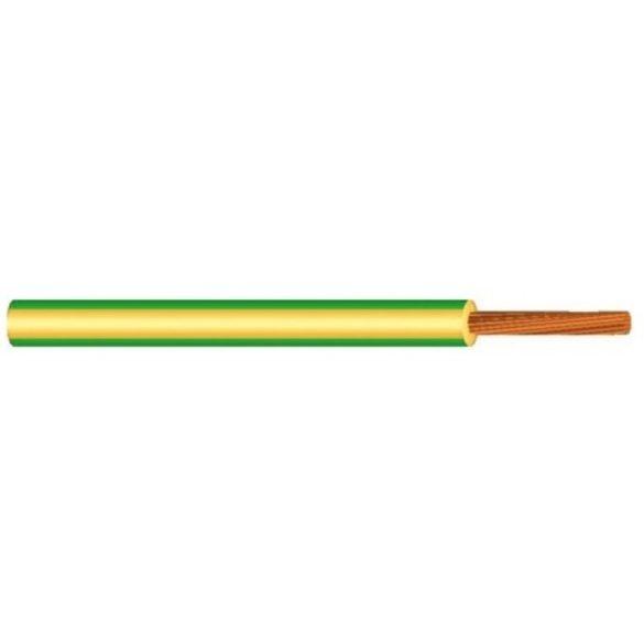 MKH vezeték 1x6mm2 zöld-sárga PVC szigetelésű sodrott réz erű M-kh H07V-K (MKH)