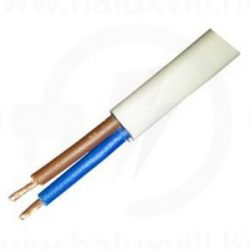 MT kábel 2x0,75mm2 fehér PVC köpenyes réz erű sodrott H05VV-F (MTK)