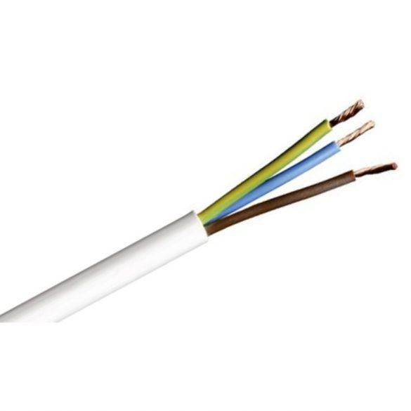 MT kábel 3x1,0mm2 fehér PVC köpenyes réz erű sodrott H05VV-F (MTK)