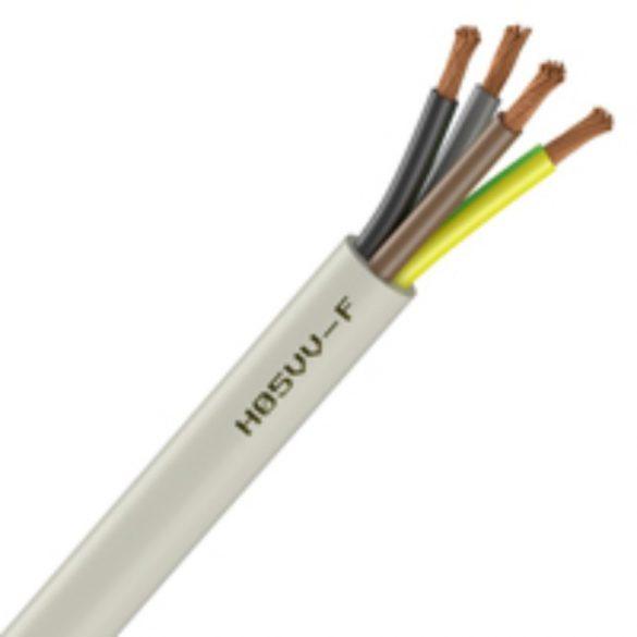 MT kábel 4x1,5mm2 fehér PVC köpenyes réz erű sodrott H05VV-F (MTK)