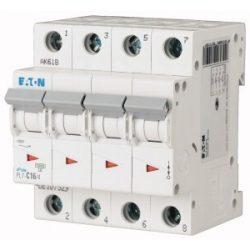Eaton C16 107329 PL7-C16/4 Kismegszakító, 10kA 16A 4pólusú