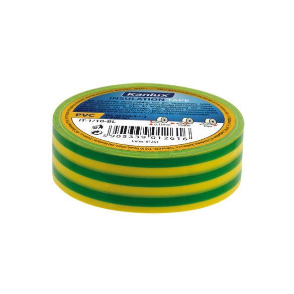 Kanlux 1277 IT-1/20-Y/GN zöld-sárga szigetelő szalag