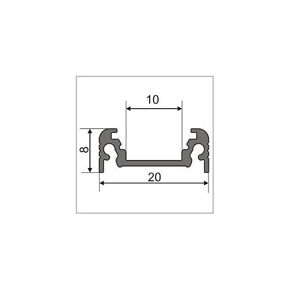 TM-profil LED Surface eloxált alumínium 2000mm