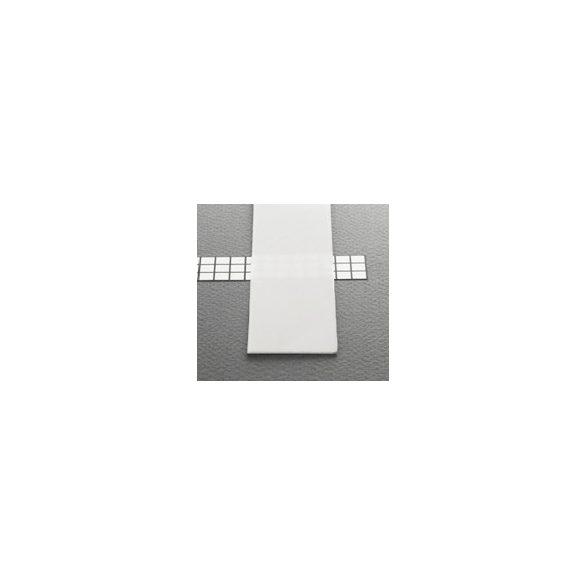 TM-takaró profil LED profilokhoz becsúsztatható tejfehér szín 2000mm (B)