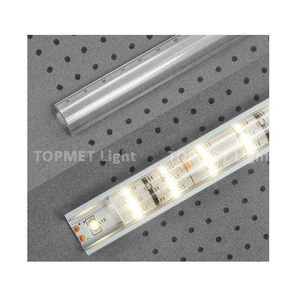 Topmet TM-takaró profil LED profilokhoz lencse alakú rápattintható transzparens 2000mm