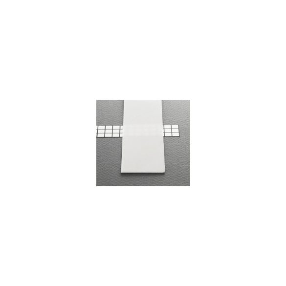 TM-takaró profil Wide profilhoz befűzős transzparens 2000mm (G)