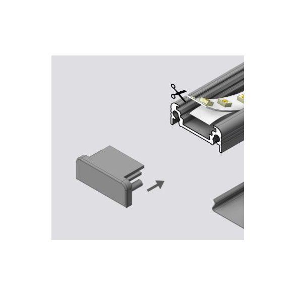 TM-végzáró profilhoz Surface szürke (pár