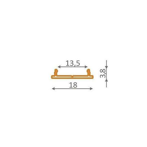 TM-fogantyú profil Fix LED profilokhoz 2000mm(fix12)