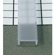 TM-takaró profil LED profilokhoz rápattintható transzparens 2000mm átlátszó(C)