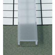 Topmet TM-takaró profil LED profilokhoz rápattintható transzparens 2000mm átlátszó(C)