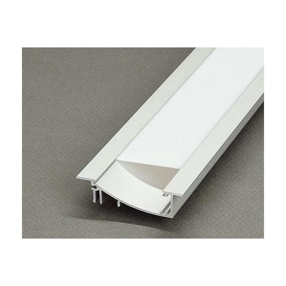 TM-profil LED Flat eloxált alumínium 2000mm