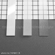 Topmet TM-takaró profil Flat profilhoz befűzős transzparens 2000mm(H)