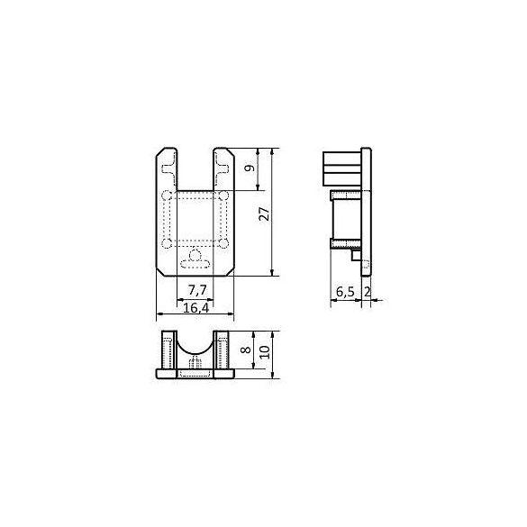 Topmet TM-végzáró Mikro-line polc-hoz (pár)átlátszó
