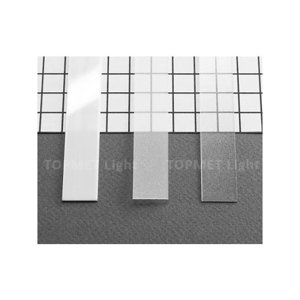 Topmet TM-takaró profil Slim/Smart profilhoz befűzős tejfehér 2000mm (A)
