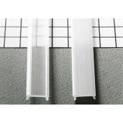 TM-takaró profil LED profilokhoz rápattintható tejfehér szín 2000mm opál(C)