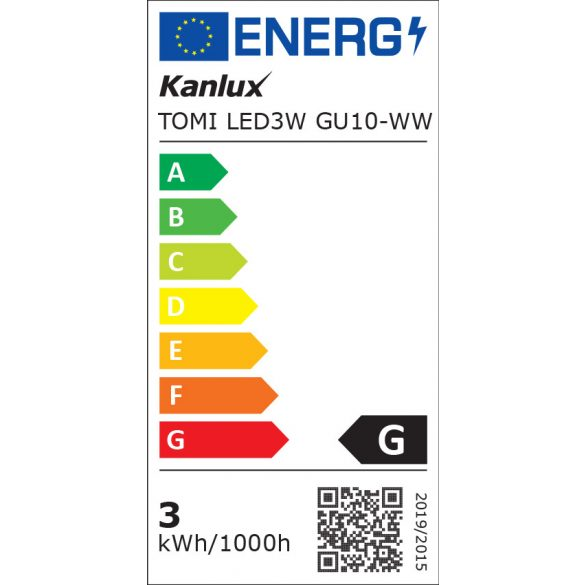 Kanlux 22702 TOMI LED3W GU10-WW fényforrás