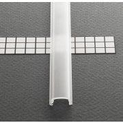 Topmet TM-takaró profil Pen profilhoz rápattintható transzparens 2000mm