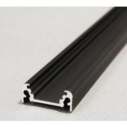 Topmet TM-profil LED Surface alu fekete 2000mm