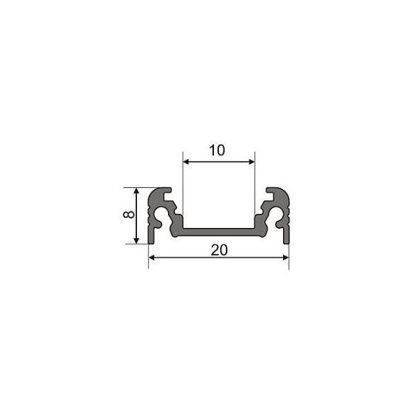 Topmet TM-profil LED Surface alu fehér 2000mm
