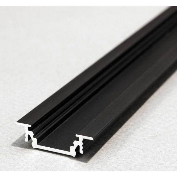 TM-profil LED Groove alu fekete 2000mm