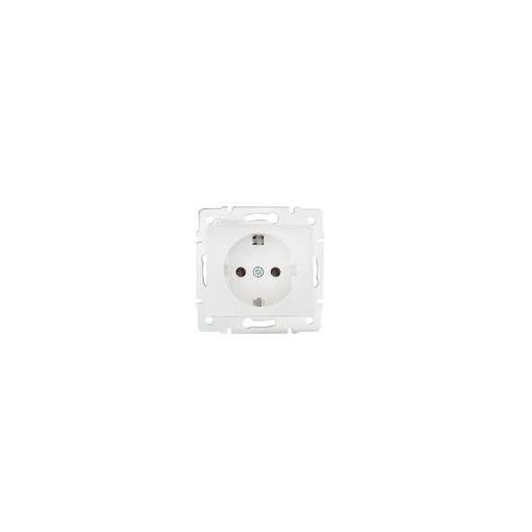 DOMO 01-1220-102 fehér földelt dugalj, tűzbiztos műanyag