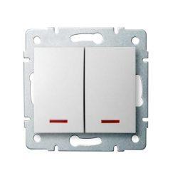 Kanlux 25079 LOGI 02-1120-102 fehér jelzőfényes csillárkapcsoló(105)