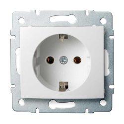 Kanlux 25085 LOGI 02-1220-102 fehér földelt dugalj tűzbiztos műanyag