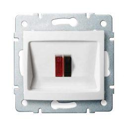 Kanlux 25114 LOGI 02-1450-002 fehér hangszóró csatlakozó aljzat (2 kivezetéssel)