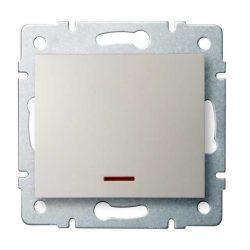 Kanlux 25138 LOGI 02-1110-103 krém jelzőfényes egypólusú kapcsoló