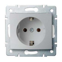 Kanlux 25204 LOGI 02-1220-143 ezüst földelt dugalj tűzbiztos műanyag