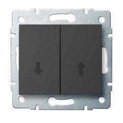 Kanlux 25255 LOGI 02-1100-141 grafit redőny kapcsoló