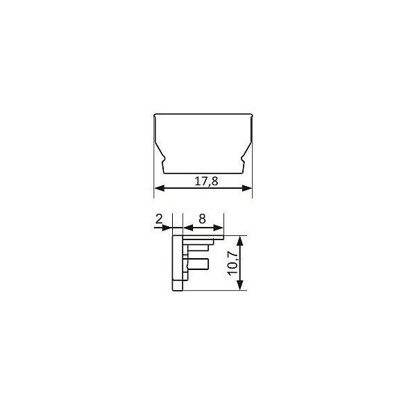 TM-végzáró Uni profilhoz szürke (pár)