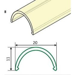 Topmet TM-takaró profil Uni/Arc profilhoz rápattintható tejfehér 2000mm (D)