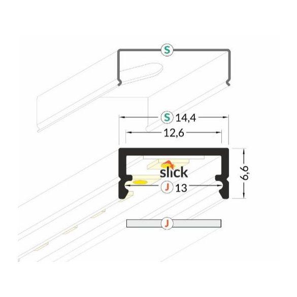 Topmet TM-profil LED Begton alu elox 2000mm