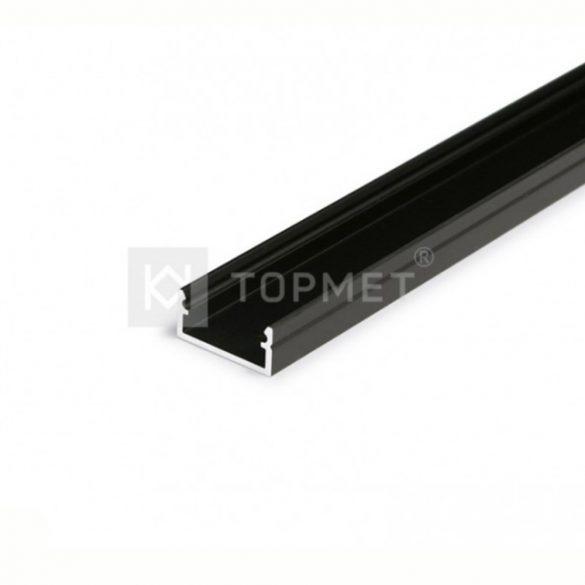TM-profil LED Begton alu fekete 2000mm