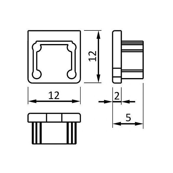 TM-végzáró profilhoz Smart szürke (pár)