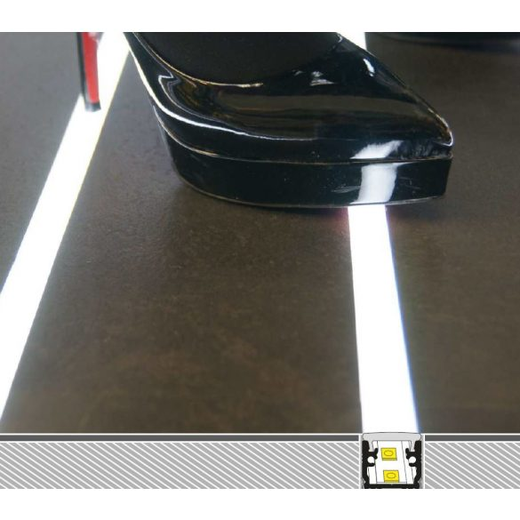 TM-profil LED Floor eloxált alumínium 2000mm