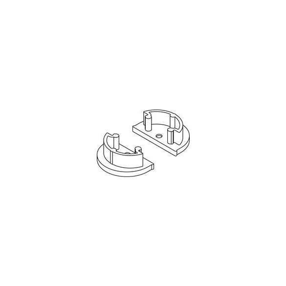 Topmet TM-végzáró profilhoz ARC félgömbölyű (pár)