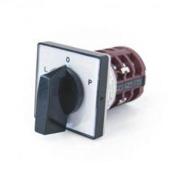 Apator 4G25-11-U 3P előlapra építhető ipari kapcsoló L-0-R Irányváltó kapcsoló 25A
