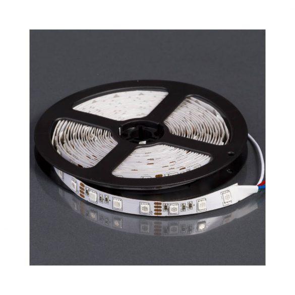 LEDSZALAG RGB 5050smd 60led/m IP20 12V színes 14,4W RGB