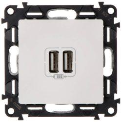 Legrand Valena Life USB töltőaljzat kettős beépített tápegységgel - 5V - 1500 mA fehér