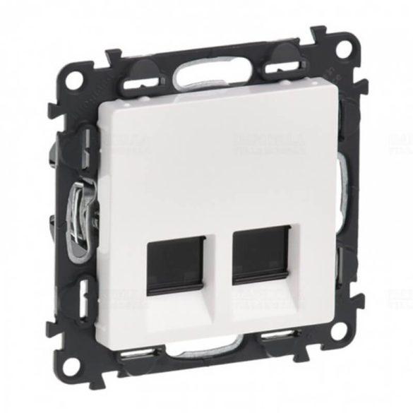 ValenaLife adatcsatlakozó dugalj STP 2xRJ45 8(8) Cat6 süllyesztett fehér csavarrögzítés