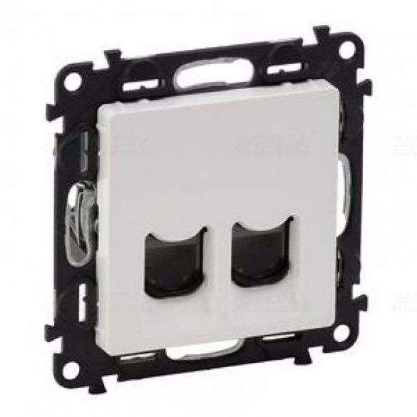 ValenaLife adatcsatlakozó dugalj FTP 2xRJ45 8(8) Cat5 süllyesztett fehér