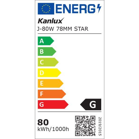 Kanlux 8490 J-80W 78mm STAR ceruzahalogén