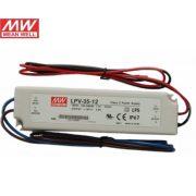 MEAN WELL 35W LPV-35-12 LED tápegység IP67