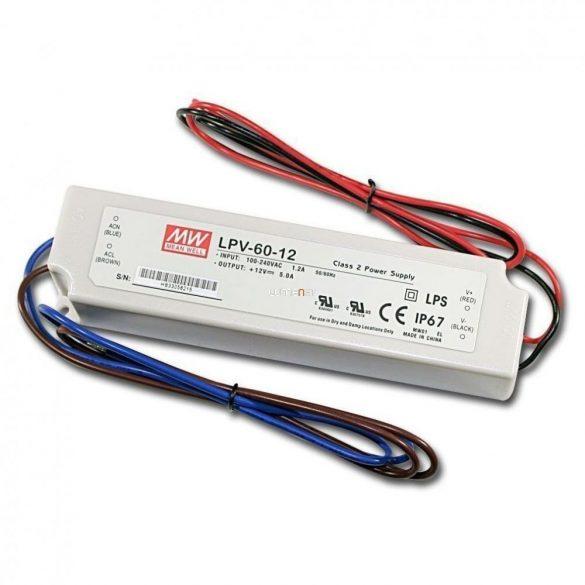 MEAN WELL 60W LPV-60-12 LED tápegység IP67